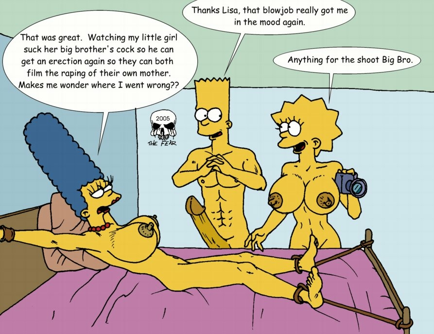 simpson marge bart with naked Is chara a boy or a girl