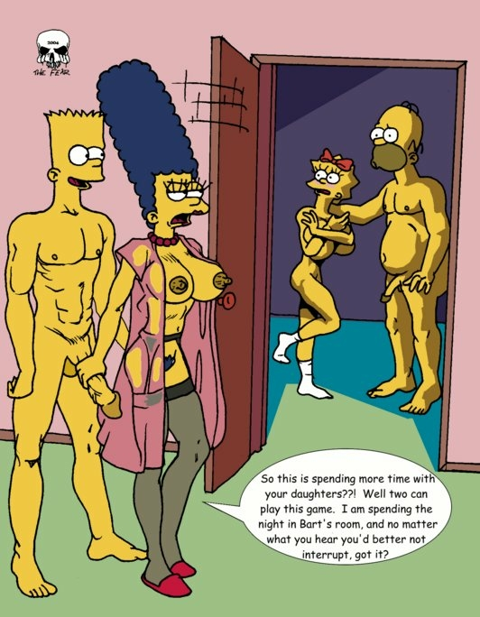 with naked simpson marge bart Arania cabin in the woods