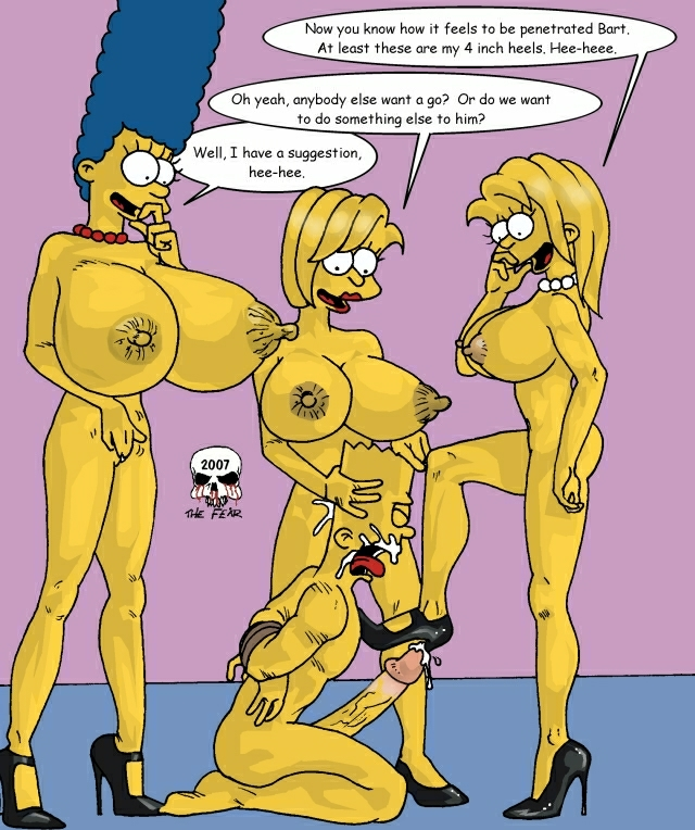 simpson naked bart marge with Francine and steve smith porn