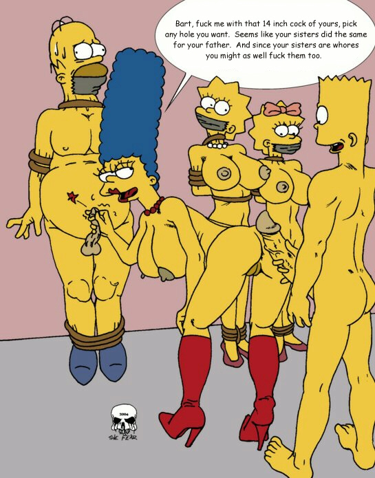 bart with marge simpson naked Red riding hood comic porn