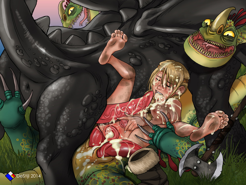 dragon astrid to sex your how train Bendy and the ink machine female